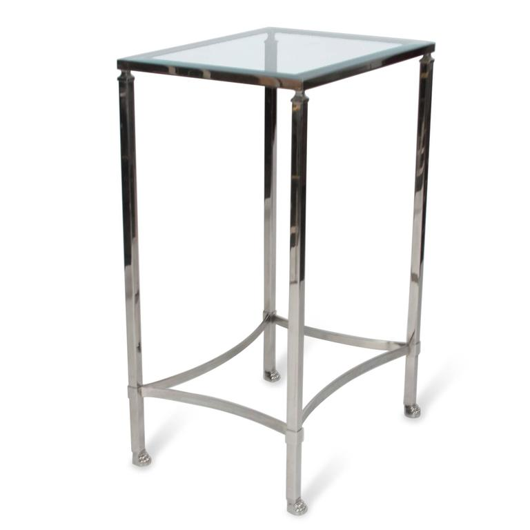 Stainless Side Table with Paw Feet by Philippe Starck 6