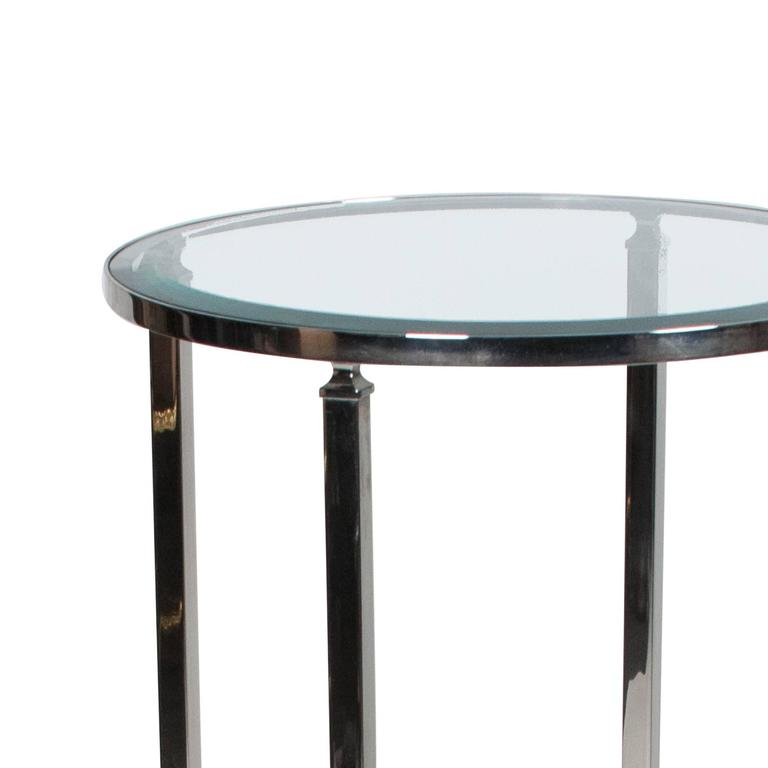 Stainless side table with paw feet by philippe starck for for Philippe starck glass table