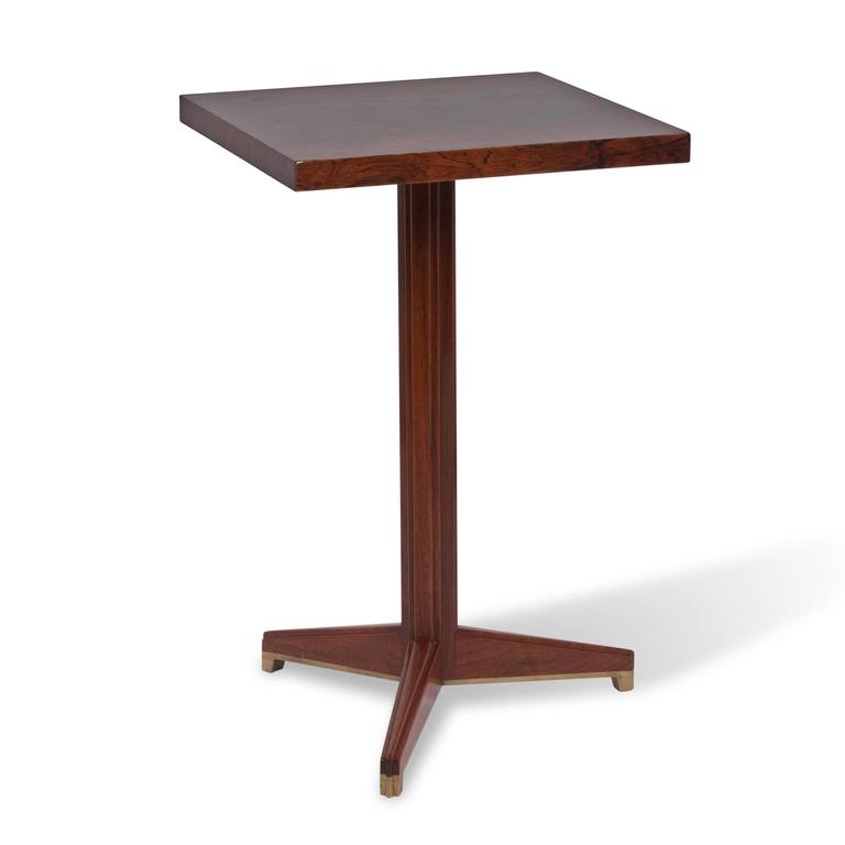 Square Palissandre Occasional Table by Wormley for Dunbar For Sale at 1stdibs -> Table Tele Palissandre