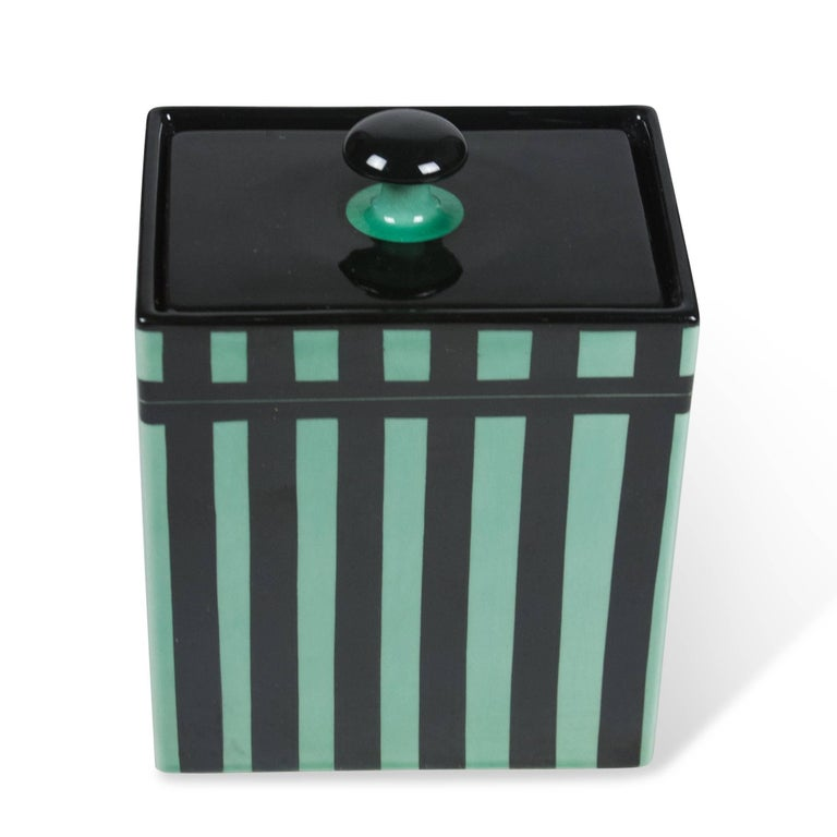 Striped Rectangular Ceramic Lidded Box by Hedwig Bollhagen 6