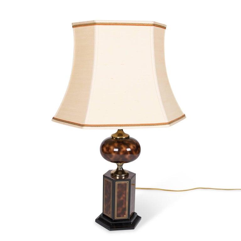 Faux Tortoise Table Lamp by Maison Jansen 2