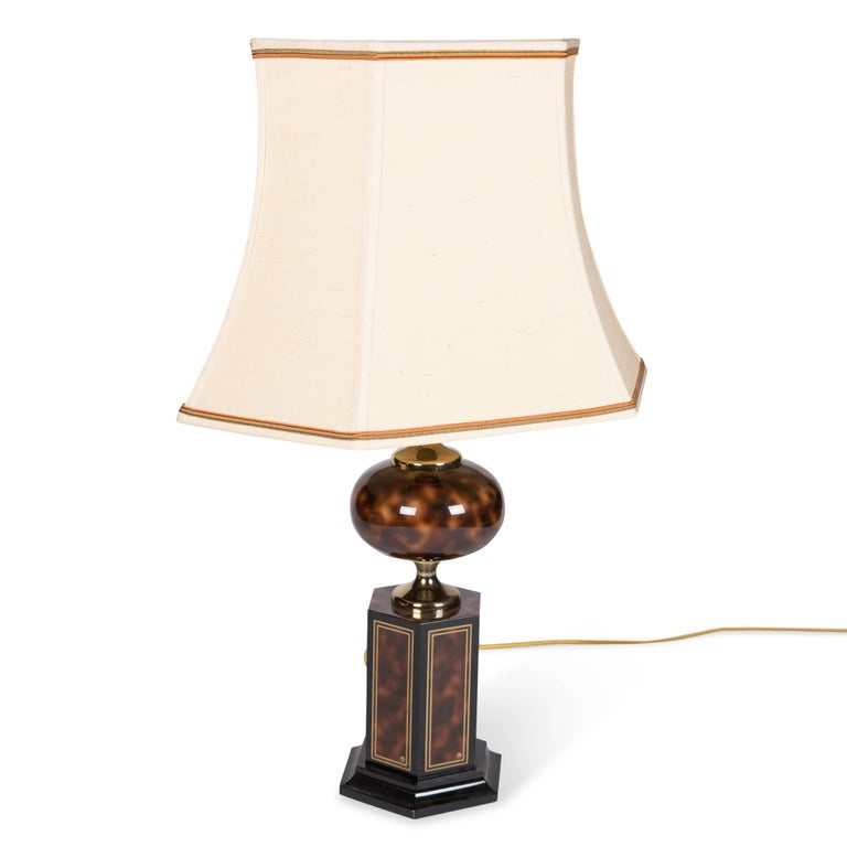 Faux Tortoise Table Lamp by Maison Jansen 3