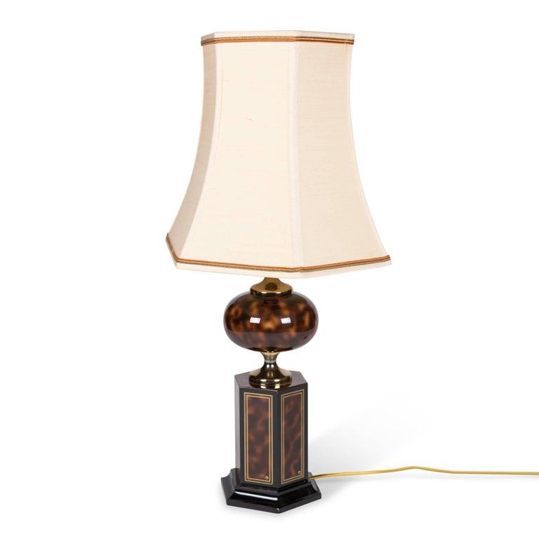 Faux Tortoise Table Lamp by Maison Jansen 4