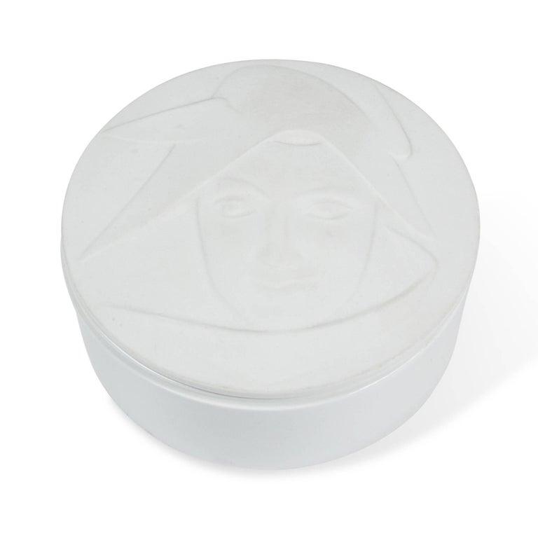 Circular Matte Porcelain Lidded Dish by KPM 2