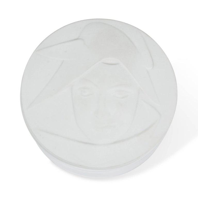 Circular Matte Porcelain Lidded Dish by KPM 3