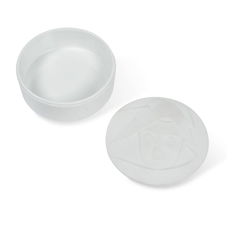 Circular Matte Porcelain Lidded Dish by KPM 4