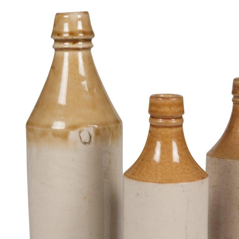Set of Three Stoneware Bottles, French, 1930s 4