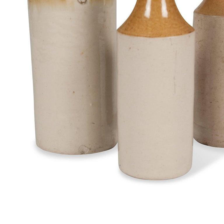 Set of Three Stoneware Bottles, French, 1930s 5