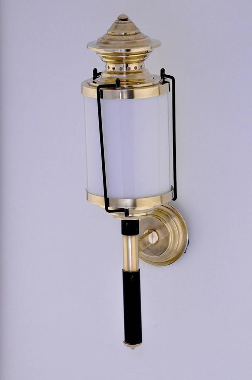 Mid-20th Century Pair of 1950  Italian Lantern-Sconces For Sale