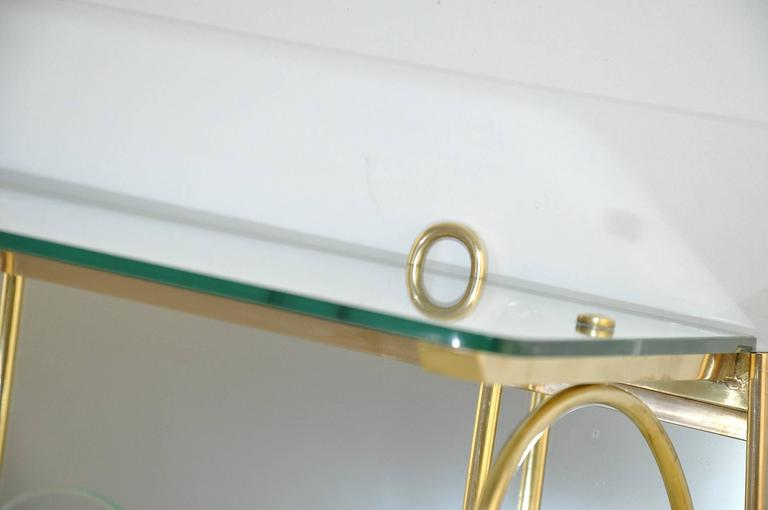 High Quality Glass Coat Rack in the Style of Fontana Arte In Excellent Condition For Sale In Auribeau sur Siagne, FR