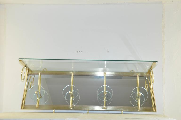 High Quality Glass Coat Rack in the Style of Fontana Arte For Sale 3