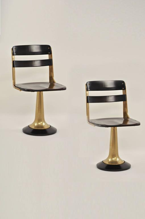Bronze And Mahogany Pair Of Yacht Chairs At 1stdibs