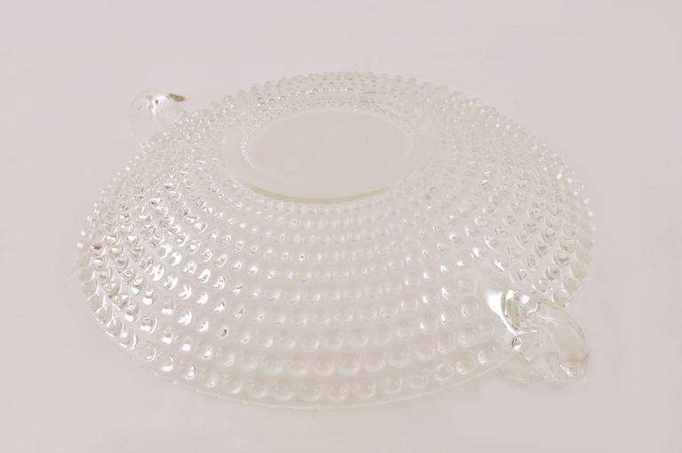 Italian Glass Bowl or Centerpiece, Mid-Century Modern For Sale 2