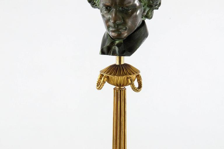 French 1950 Art Deco Beethoven Floor Lamp For Sale