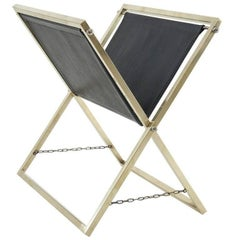 1950 Magazine Rack in the Style of Jacques Adnet