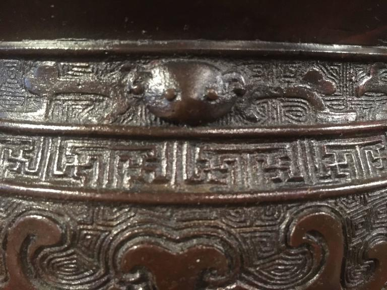 Chinese Qing Dynasty Archaistic Bronze Gui Vessel For Sale 1
