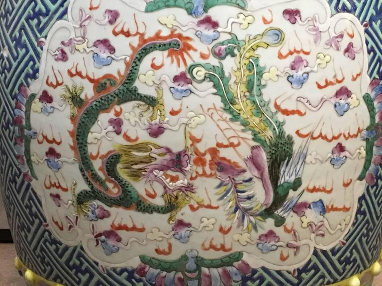 Chinese Qing Dynasty Famille Rose Dragon And Phoenix