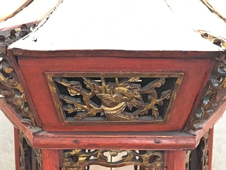 Large Chinese Lacquered and Gilt Wooden Model of a Pagoda or Pavilion For Sale 1
