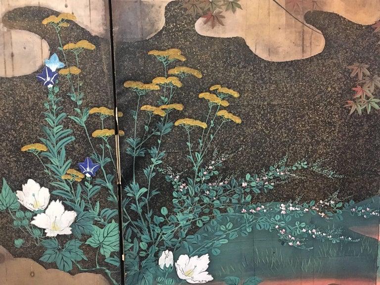 Japanese Edo Period Six-Panel Screen Autumn For Sale 1