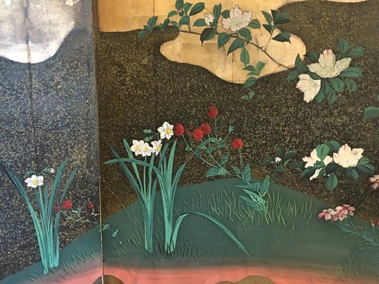 Japanese Edo Period Six-Panel Screen Autumn For Sale 3
