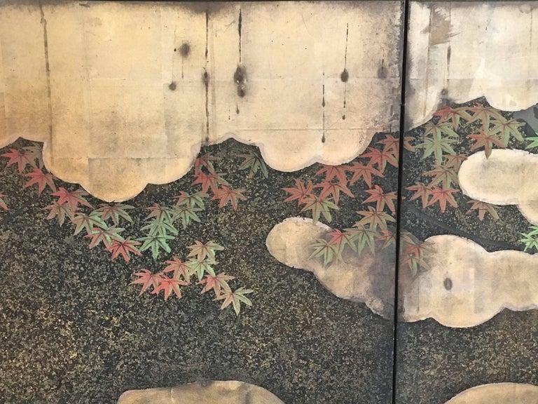 Japanese Edo Period Six-Panel Screen Autumn For Sale 4