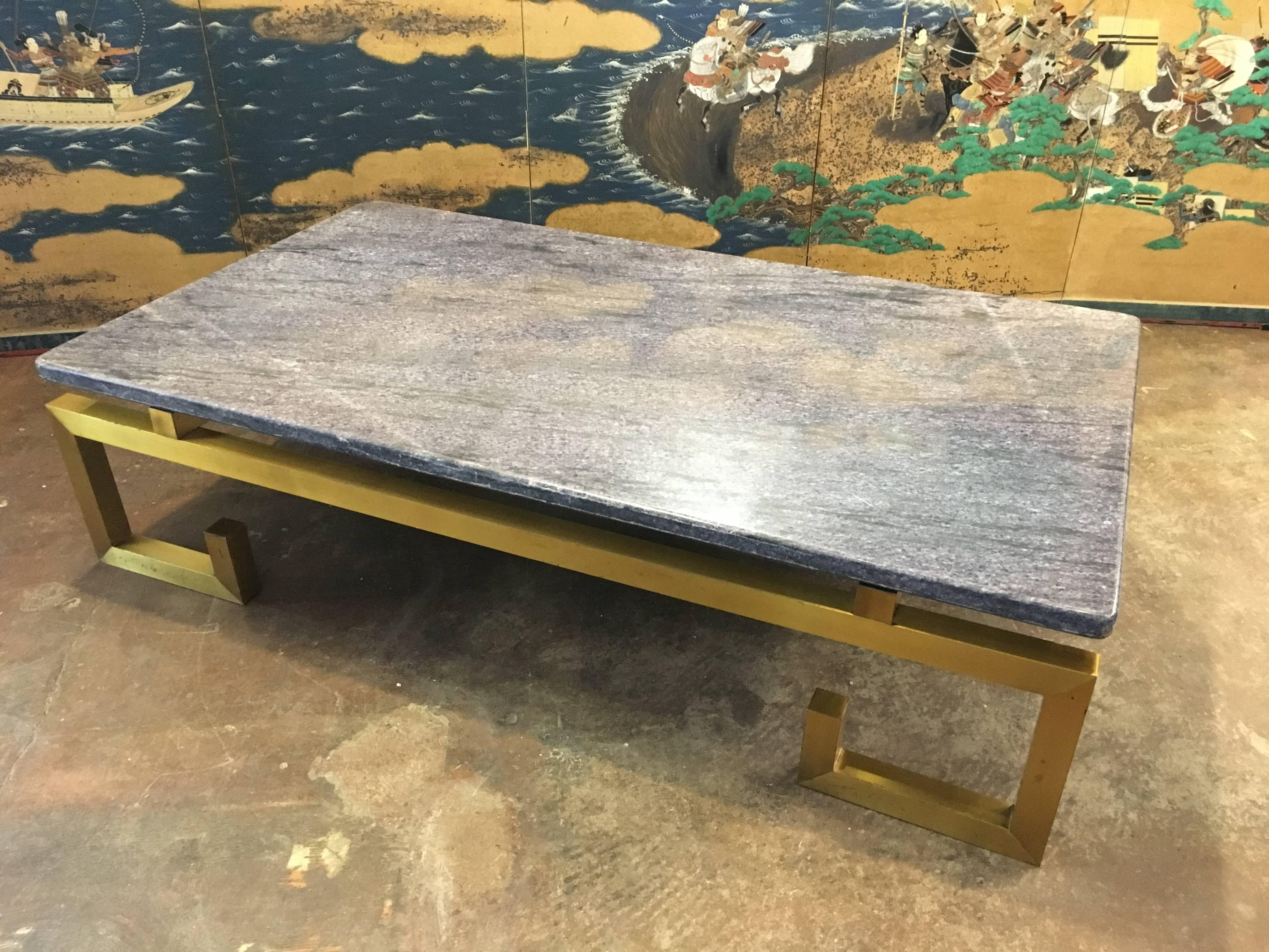 Br And Blue Marble Coffee Table