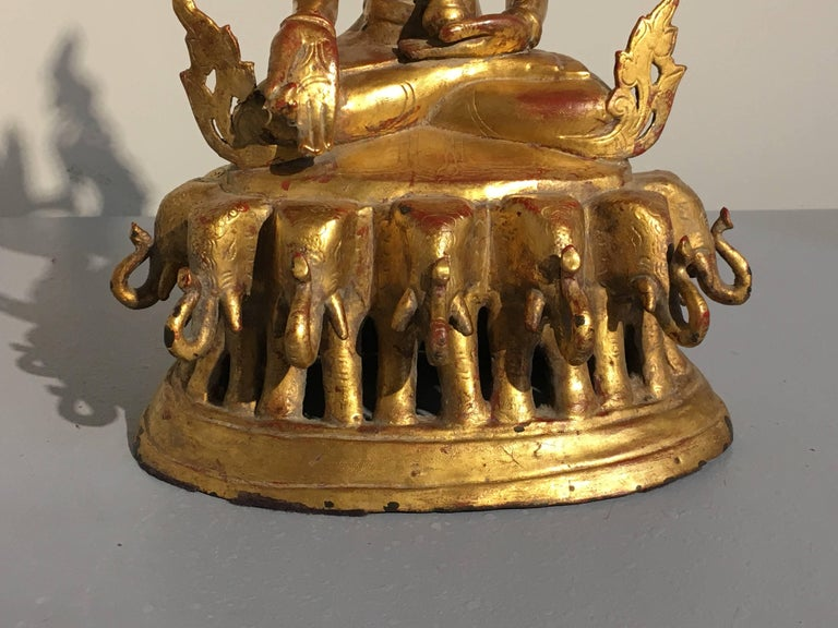 Burmese Arakan Lacquered and Gilt Bronze Healing Buddha, 18th Century For Sale 7