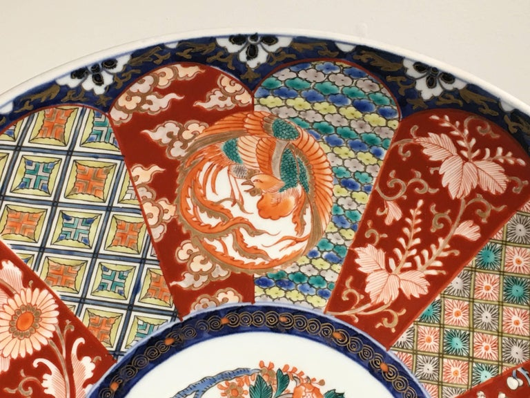 Japanese Meiji Period Imari Porcelain Charger For Sale 1