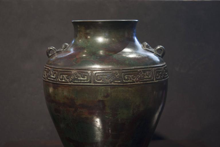 Chinese Archaic Patinated Bronze Vase, Early 20th Century For Sale 1
