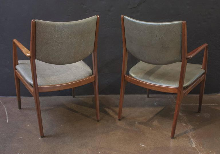 Genial A Handsome And Solid Pair Of Mid Century Modern Walnut Armchairs Designed  By George Reinoehl
