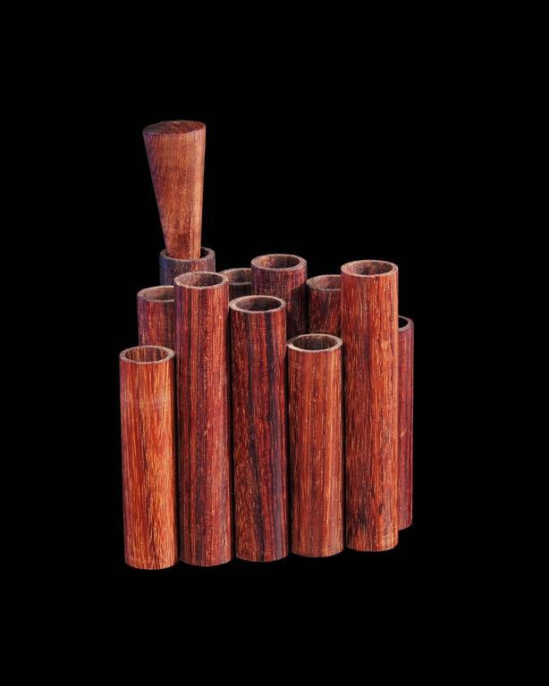 Mid-Century Walnut Pencil or Pen Holder by Sergio Dello Strologo for Xilarte 2