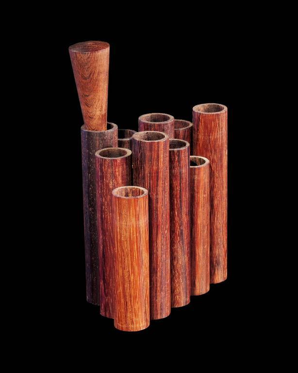 Mid-Century Walnut Pencil or Pen Holder by Sergio Dello Strologo for Xilarte 3
