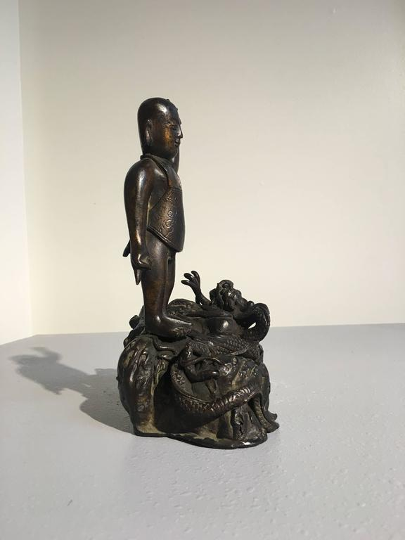 18th Century and Earlier Ming Dynasty Bronze Figure of the Infant Buddha For Sale