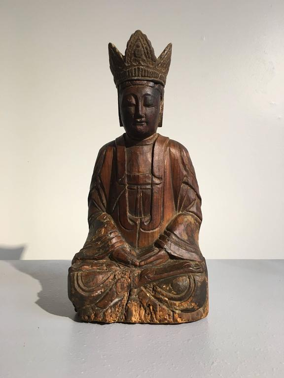 An attractive figure of a bodhisattva in meditation.