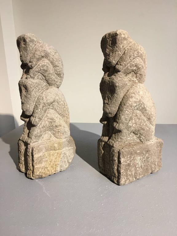 Chinese carved stone monkey totems for sale at stdibs
