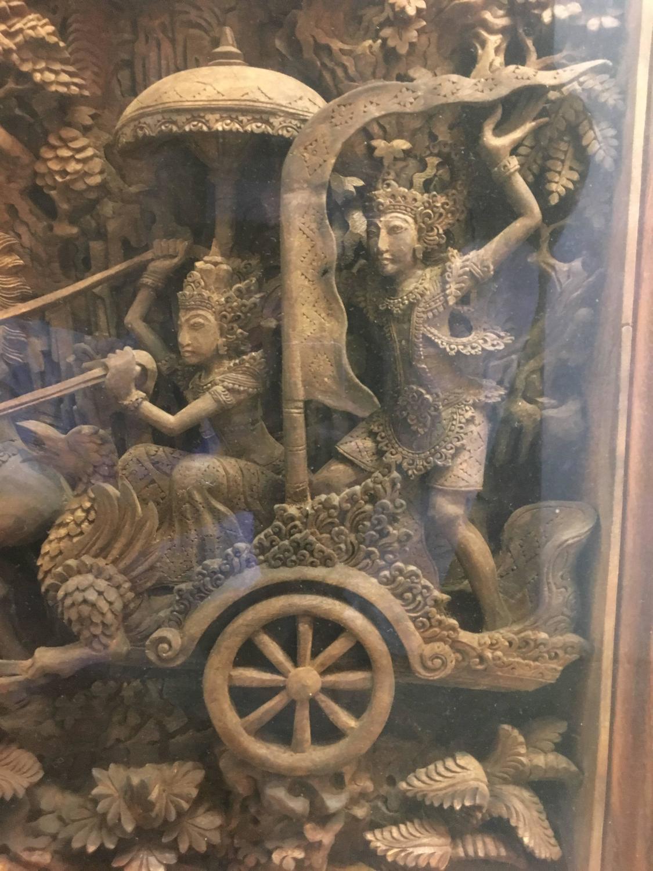 Massive bali ramayana wood carving at stdibs