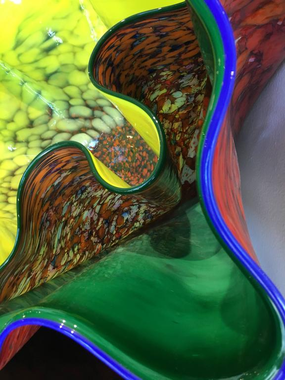 Emerald and Linden Yellow Macchia Pair by Dale Chihuly In Excellent Condition In Austin, TX