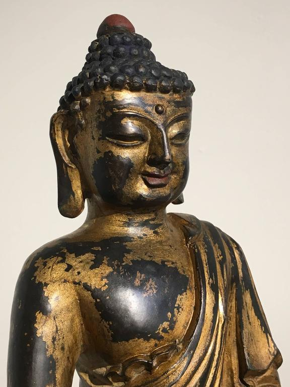 Chinese Gilt Bronze Amitabha Buddha, 20th Century For Sale 2