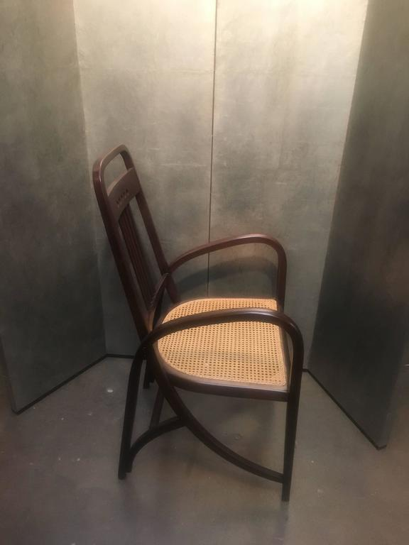 Stained Thonet Model No. 511 Bentwood Armchair, Vienna Secession, circa 1904 For Sale