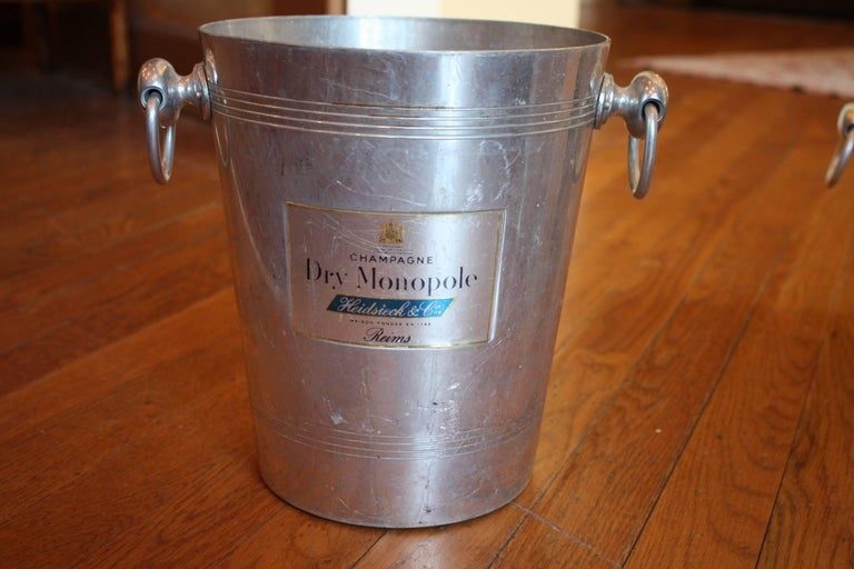 20th Century Collection of French Champagne Cooler Ice Bucket For Sale