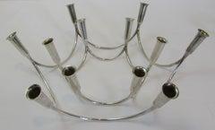 Danish Modern Sterling Silver Candlesticks by Eigel Jensen for A. Michelsen