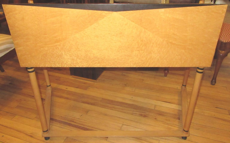 Italian Roche Bobois Art Deco Design Maple Wood Desk For Sale