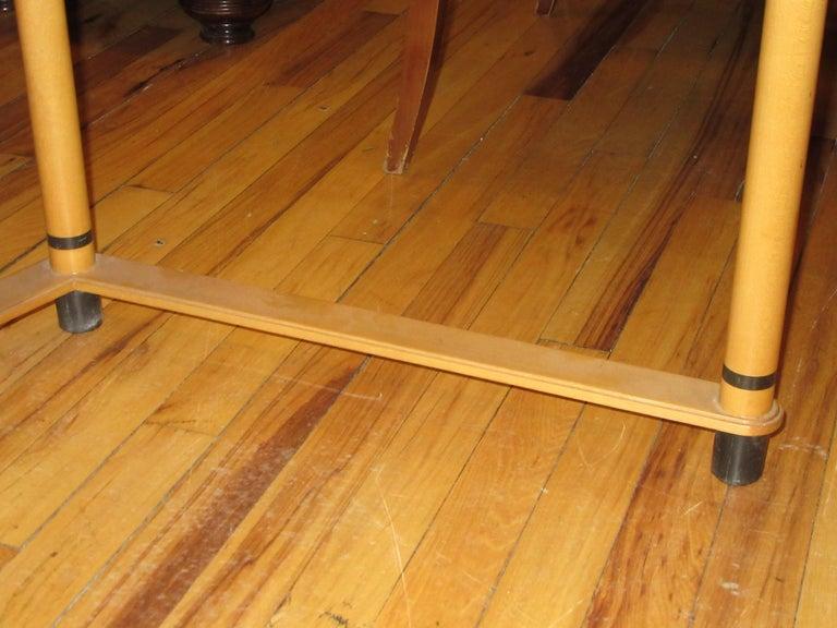 Late 20th Century Roche Bobois Art Deco Design Maple Wood Desk For Sale