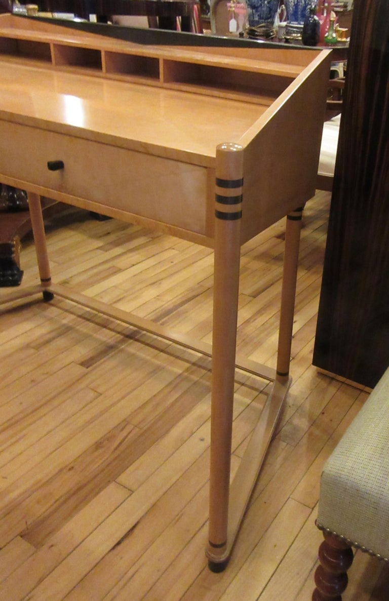 Roche Bobois Art Deco Design Maple Wood Desk For Sale 1