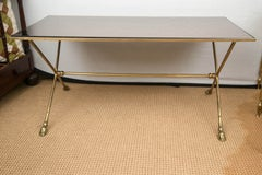 French Brass Cocktail Table in the Manner of Maison Jansen, 1950s
