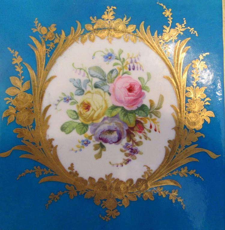 Pair of Early Sevres Bleu Turquoise Caisses a Fleur Carrees In Excellent Condition For Sale In Mt Kisco, NY