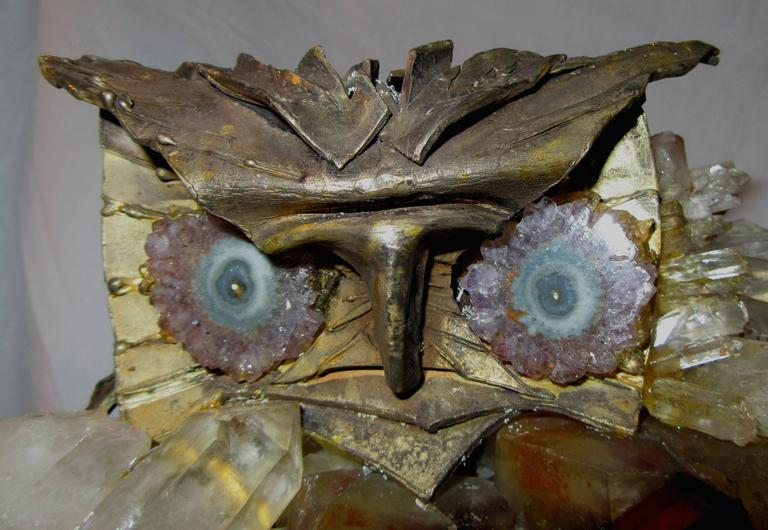 Brutalist Owl Sculpture Attributed to French Sculptor Claude Barbat 4