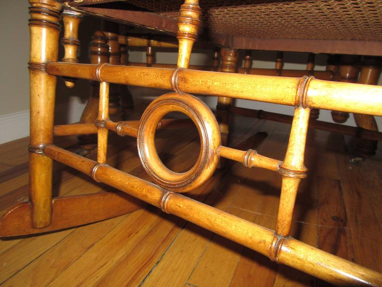 Aesthetic Movement Faux Bamboo Rocking Chair Attributed to R.J. Horner & Co In Good Condition For Sale In Mt Kisco, NY
