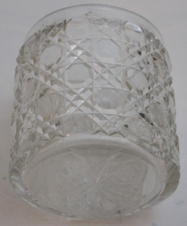 Sterling Silver Edwardian Sterling Lidded Glass Vanity Jar of Cherub Design For Sale