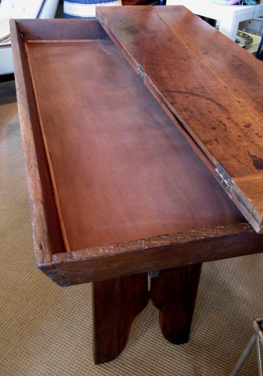 French Provincial French Country Solid Ash Trestle Writing Table For Sale